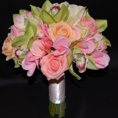 Cymbidium,-plumeria-and-roses-real-touch-bridal-bouquet
